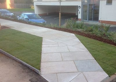An Indian sandstone path